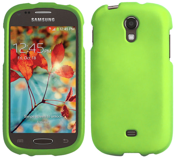GREEN RUBBERIZED HARD SHELL CASE PROTEX COVER FOR SAMSUNG GALAXY LIGHT T399