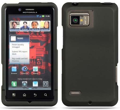 NEW BLACK RUBBERIZED HARD CASE COVER FOR VERIZON MOTOROLA DROID BIONIC XT875