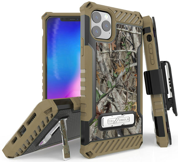 Autumn Camo Tree Real Woods Case Cover Belt Clip Holster for iPhone 11 Pro Max