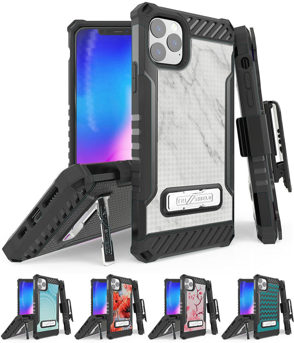 Rugged Tri-Shield Case + Belt Clip for Apple iPhone 11 PRO MAX - Designer Series