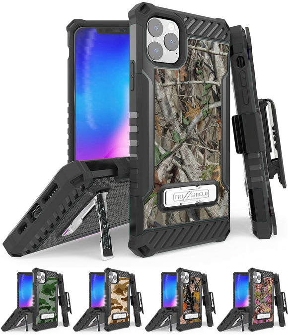 Rugged Tri-Shield Case + Belt Clip for Apple iPhone 11 Pro - Camouflage Series
