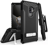 TRI-SHIELD CASE COVER STAND STRAP + BELT CLIP FOR SAMSUNG GALAXY S9 PLUS, S9+