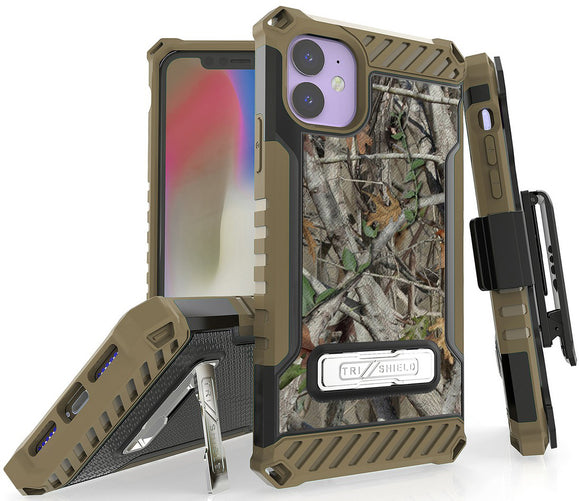 Autumn Camo Tree Real Woods Case Cover Belt Clip Holster for Apple iPhone 11