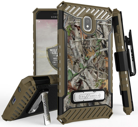 Autumn Camo Tree Woods Case + Clip for Samsung Galaxy J7 Star/Refine/Aero 2018