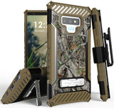 Autumn Camo Tree Real Woods Case Cover Belt Clip Strap for Samsung Galaxy Note 9