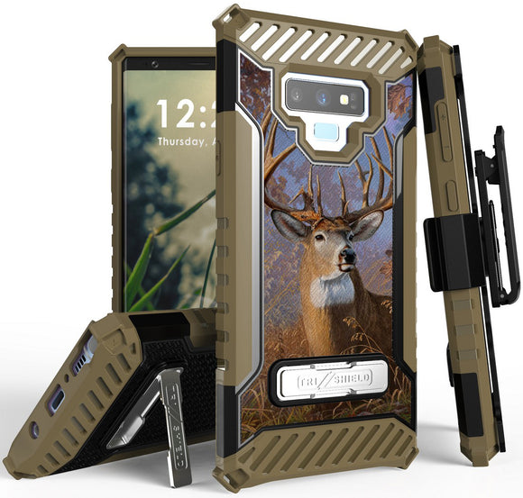 Big Buck Deer Camo Outdoor Case Cover Belt Clip Strap for Samsung Galaxy Note 9