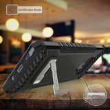 Tri-Shield Rugged Case Cover Metal Stand + Wrist Strap for Samsung Galaxy Note 9