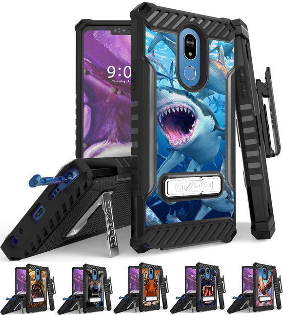 Rugged Case + Belt Clip Combo for LG Stylo 5 - Fierce Creatures