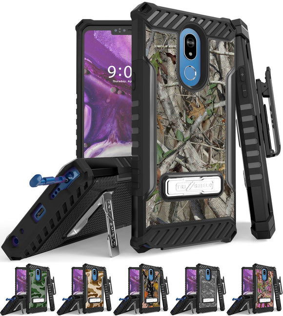 Rugged Case + Belt Clip Combo for LG Stylo 5 - Camouflage Series