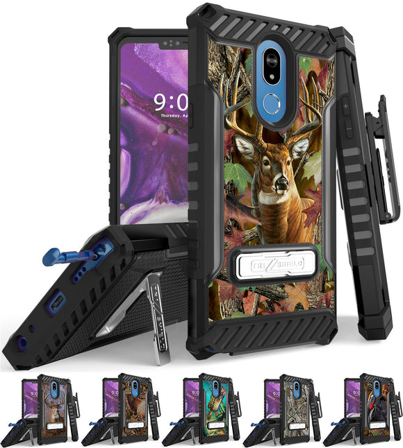 Rugged Case Cover + Belt Clip Combo for LG Stylo 5 - Hunter Series