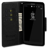 NEW BLACK INFOLIO WALLET CREDIT CARD ID CASH CASE COVER STAND FOR LG V10 PHONE
