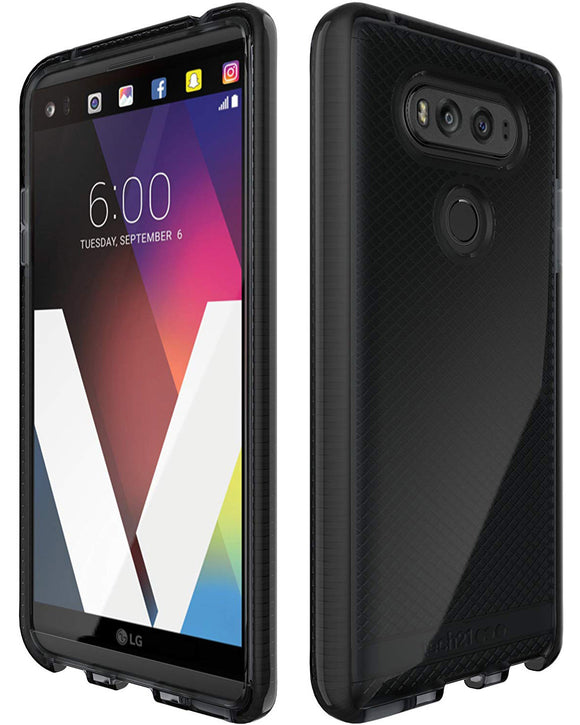 Tech21 Black Smoke EVO Check Anti-Shock Case TPU Cover for LG V20