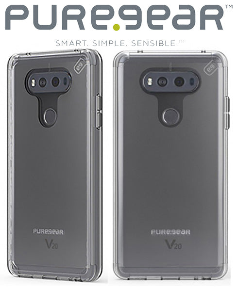PUREGEAR CLEAR SLIM SHELL PRO ANTI-SHOCK CASE TRANSPARENT COVER FOR LG V20 PHONE