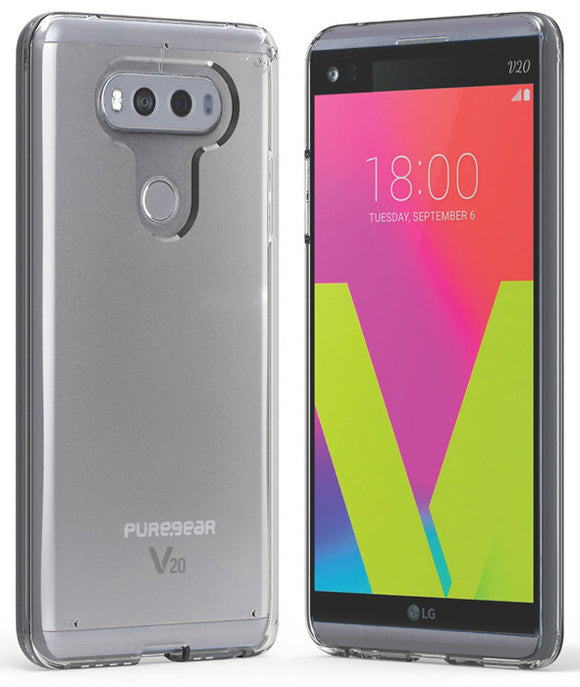 PUREGEAR CLEAR SLIM SHELL CASE TRANSPARENT COVER FOR LG V20 PHONE
