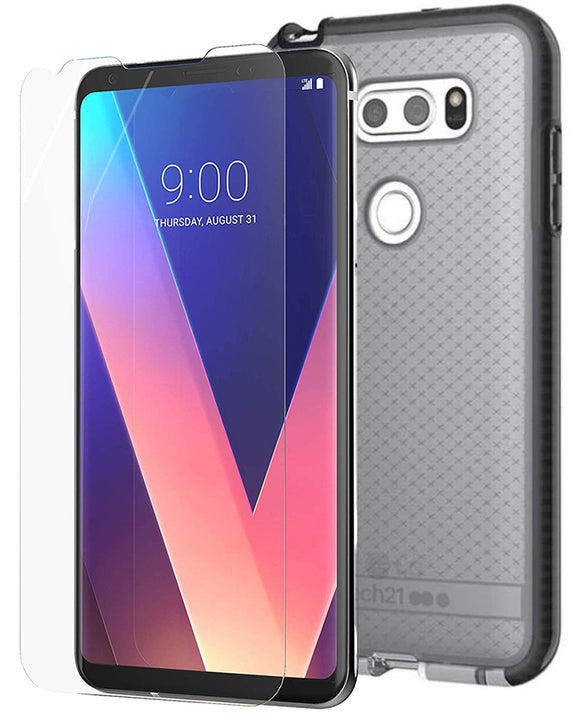 Tech21 Black Smoke EVO Check Case + ImpactShield Screen Protector for LG V30