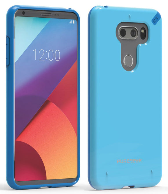 PureGear Light Blue Slim Shell Case Hard Cover for LG V30/V30 Plus/V30s/V35