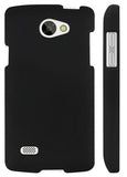 BLACK RUBBERIZED PROTEX HARD SHELL CASE COVER FOR VERIZON LG LANCET VW820 PHONE