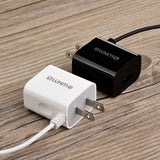 Black 2.1A USB TYPE-C TRAVEL WALL CHARGER WITH USB PORT FOR GOOGLE PIXEL 2 XL
