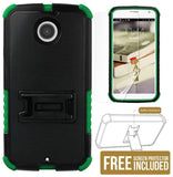 GREEN TRI-SHIELD CASE COVER STAND SCREEN PROTECTOR FOR MOTOROLA MOTO-X 2nd GEN