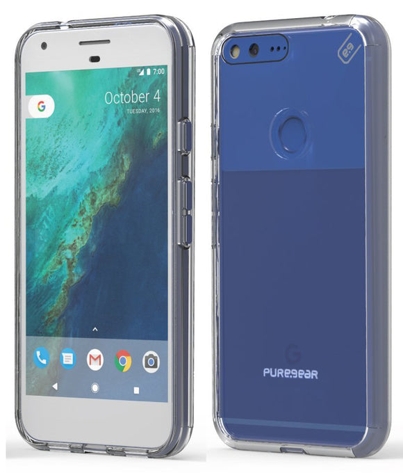 PUREGEAR CLEAR SLIM SHELL PRO CASE HARD TRANSPARENT COVER FOR GOOGLE PIXEL XL