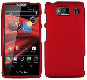 RUBBERIZED RED HARD CASE COVER FOR VERIZON MOTOROLA DROID RAZR HD XT926