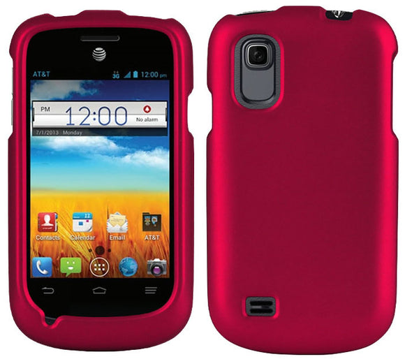 PINK RUBBERIZED PROTEX HARD CASE COVER FOR AT&T ZTE AVAIL-2 Z992 & PRELUDE Z993