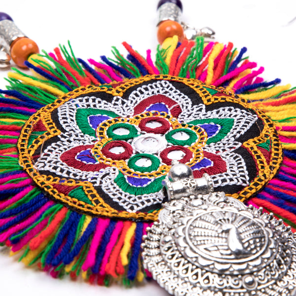 Embroidery Tassel Banjara Tribe Necklace