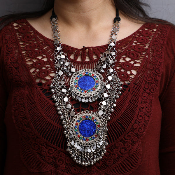 Vintage Long Tribal Afghani Necklace