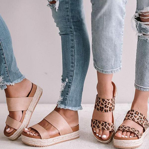 Flat Bottomed Open Toe Outer Sandals