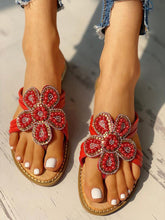 Load image into Gallery viewer, Women's Flower Pattern Beaded Design  Sandals