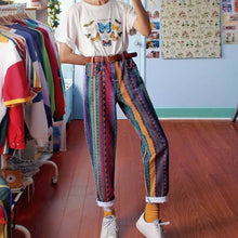 Load image into Gallery viewer, Women's Fashion Multicolor Striped Straight Pants