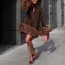 Load image into Gallery viewer, Fashion Leopard Print Long Sleeve Dress