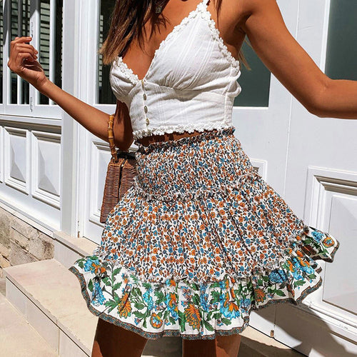 Women's Sexy Fungus Floral Skirt