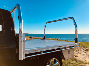 we sell aluminum flat deck truck beds