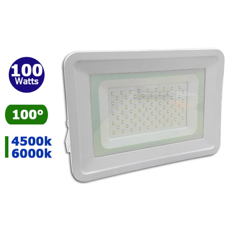 Projecteur LED - 100 Watts - Angle 100° - 8500 lumens - 310 x 230 x 40 mm - IP65