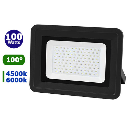 Projecteur LED - 100 Watts - Angle 100° - 8500 lumens - 310 x 249 x 40 mm - IP65