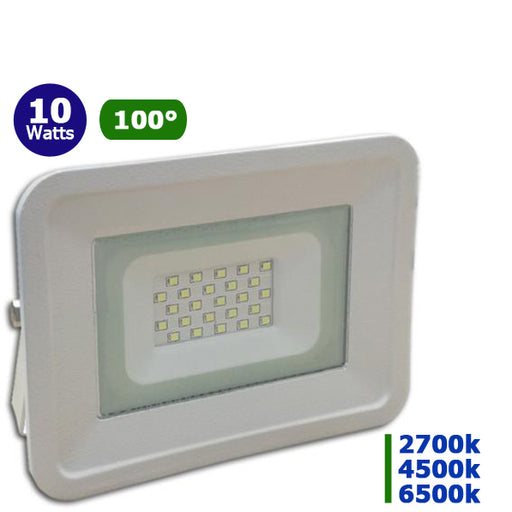 Projecteur LED - 10 Watts - Angle 100° - 850 lumens - 112 x 115 x 27 mm - IP65
