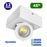 Spot LED de surface carré - 12 Watts - 990 lumens - 118 X 180 X 50 mm - 45 degrés - IP20 - Ajustable