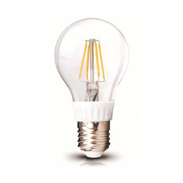 Lot de 10 Ampoules LED E27 - 4 Watts - Filament - 480 Lumens - 120 Lumens/Watt - 60 x 110 mm - Angle 300° - IP20