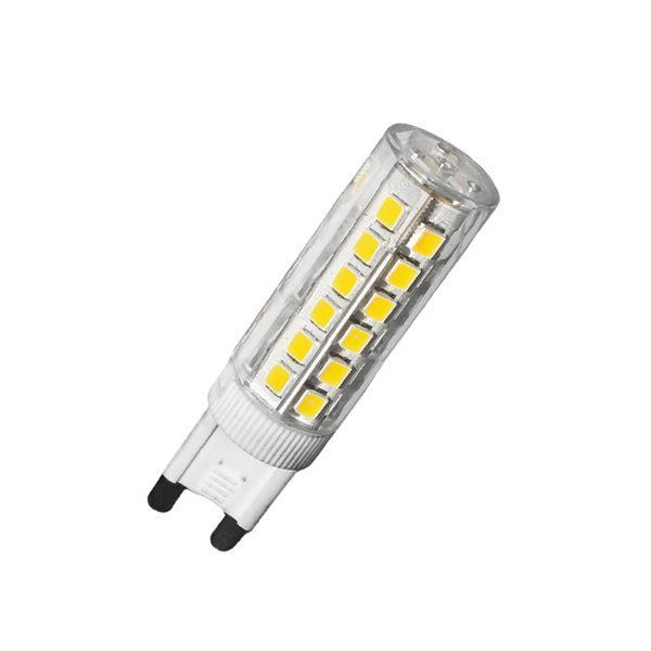 Lot de 10 Ampoules LED G9 - 6 Watts - 100 Lumens - Angle 360° - 65 x 15 mm - IP20 - Dimmable