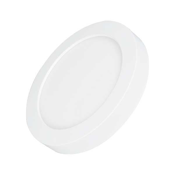 Dalle de surface ronde CCT- 6 Watts - 450 Lumens - 75 Lumens/watt - ф122 x 35 mm - Angle 100° - IP40/IP20 - Transformateur inclus - Couleur changeante