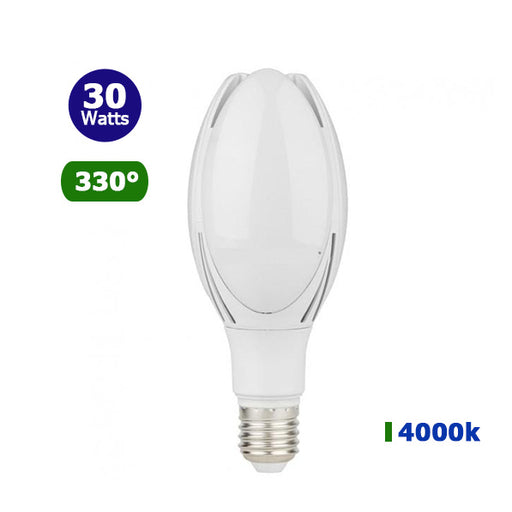 Ampoule LED E40 - 30 Watts - 2560 lumens - 85 lumens/Watt -  IP20 - 96 x 228 mm