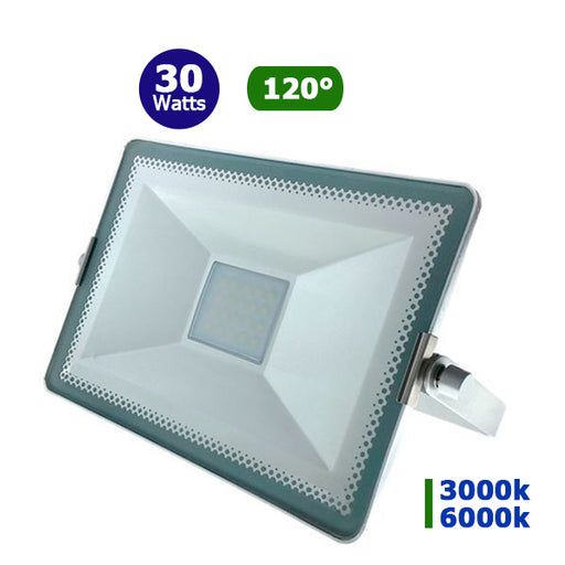 Projecteur LED - 30 Watts - Angle 120° - 2700 lumens - 265 x 175 x 18 mm - IP65