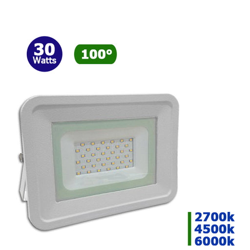 Projecteur LED - 30 Watts - Angle 100° - 2250 lumens - 180 x 172 x 32 mm - IP65