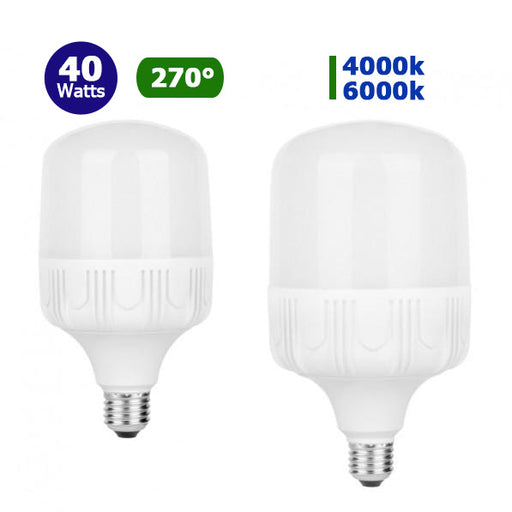Ampoule LED E40 - 40 Watts - 3600 lumens - 90 lumens/Watt - IP20 - 118 x 205 mm