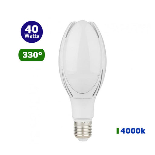 Ampoule LED E40 - 40 Watts - 3420 lumens - 85 lumens/Watt - IP20 - 108 x 264 mm