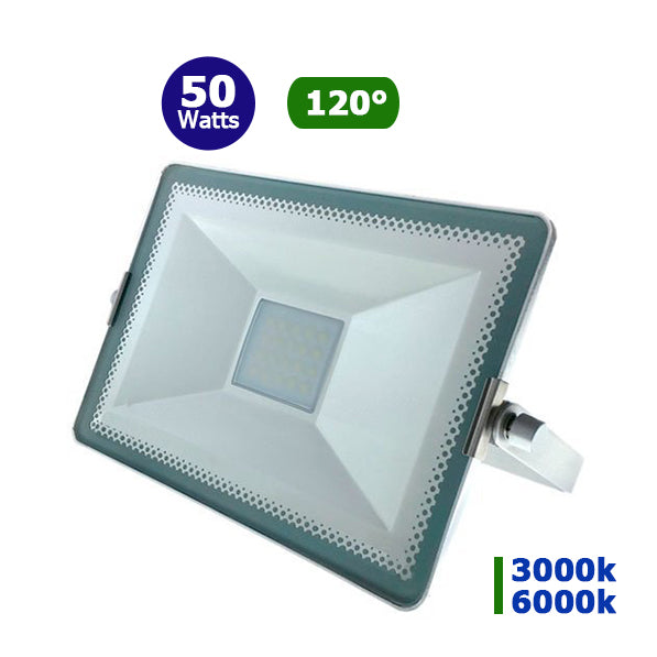 Projecteur LED - 50 Watts - Angle 120° - 4500 lumens - 285 x180 x 25 mm - IP65