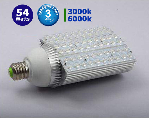 Ampoule LED E27 / E40 au choix - 54 Watts - 3900 Lumens - 148 x 274 mm - IP44