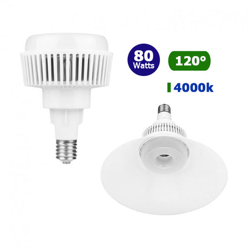 Ampoule LED E40 - 80 Watts - 7600 lumens - IP20 - 190 x 275 mm