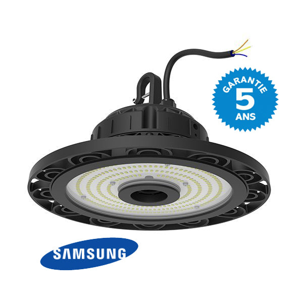 Lampe industrielle - LED SAMSUNG - 110 Watts - 15 400 Lumens - 140 Lumens/Watt - Angle 110° - 280 x 124 mm - IP65 - Transformateur inclus - Garantie 5 ans
